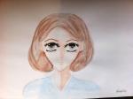 Autoportrait manga Amandine cours ado