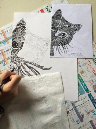 work-in-progress-zen-doodle-doodling-cours-ado-animal-atelier-croquar