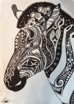 animaux réalisés façon doodling à l'atelier croqu'art de villers-cotterêts