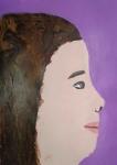 Portrait d'élève réalisé en cours enfant à l'atelier Croqu'Art dirigé par Coraline Van Butsele.