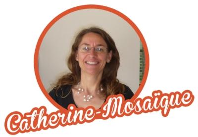 Catherine Abit, intervenante en mosaïque aux ateliers creatifs de villers-cotterets