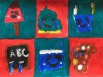 dessin de kawaii réalisés en cours enfant sur villers-Cotterets. Cours encadré par Coraline Van Butsele
