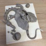 Petits animaux en argile réalisés dans le cadre du stage sculpture enfants encadré par Jonathan Boucher aux ateliers créatifs de Villers-Cotterêts