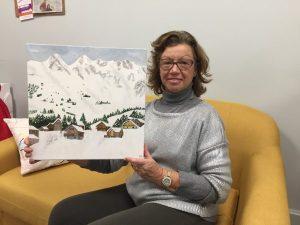 huile sur toile réalisée par Martineen cours adulte, encadré par Coraline Van Butsele aux ateliers créatifs de Villers-Cotterêts