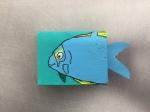 dessin sur boite d'allumettes réalisé en cours enfant encadré par coraline van butsele aux ateliers créatifs de villers cotterets