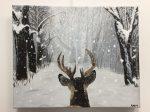 acrylique sur toile réalisée par Anne-Marie en cours adulte, encadré par Coraline Van Butsele aux ateliers créatifs de Villers-Cotterêts