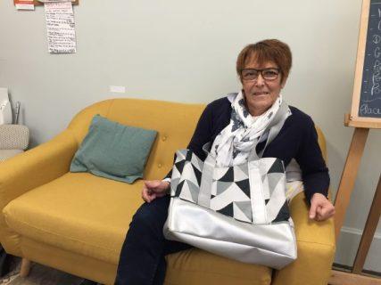 sac cabas réalisé en cours de couture adulte aux ateliers créatifs de villers-cotterets. cours encadré par emilie bechepois