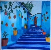 aquarelle réalisée en cours adulte aux ateliers créatifs de villers-cotterêts