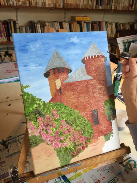 peinture à l'huile réalisée en cours de dessin aux ateliers créatifs de villers-cotterets avec coraline van butsele