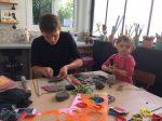 Stage poterie parent bébé encadré par Laurence Badens aux ateliers créatifs de villers-cotterets
