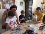 Stage poterie parent enfant encadré par Laurence Badens aux ateliers créatifs de Villers-cotterets