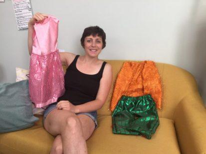 déguisements pour enfants réalisés par Mathilde en cours de couture adulte aux ateliers créatifs de villers-cotterets