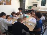 halloween mexicain, dessin de calaveras faits en cours enfant aux ateliers créatifs de villers-cotterets