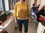 pull réalisé par Solène en cours de couture adulte aux ateliers créatifs de Villers-Cotterêts