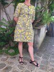 Robe réalisée par Annie en cours de couture adulte aux ateliers créatifs de Villers-Cotterêts
