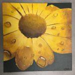 peinture en gros plan de gouttes d'eau réalisée par les élèves du cours de dessin ado, encadré par Coraline Van Butsele aux ateliers creatifs de villers-cotterets