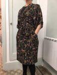 Robe réalisée par Caroline en cours de couture adulte aux ateliers créatifs de Villers-Cotterêts