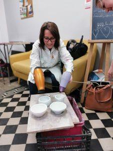 stage raku encadré par Isabelle Blutel aux ateliers créatifs de villers-cotterêts. partie 2 : l'émaillage