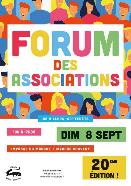 vingtième édition du forum des associations de villers-cotterêts