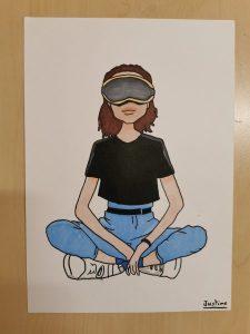 illustration réalisée aux feutres à alcool en cours de dessin encadré par Coraline Van Butsele aux ateliers créatifs de Villers-Cotterêts
