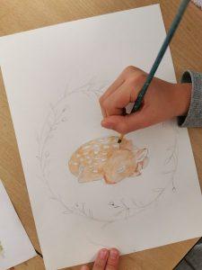 cours de dessin pour enfant encadré par Coraline Van Butsele aux Ateliers créatifs situés à Villers-Cotterêts