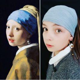 La jeune fille à la perle, Johannes Vermeer, par Ninon