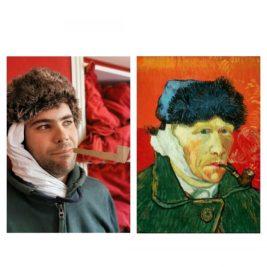 Autoportrait à l'oreille bandée, Vincent Van Gogh, par Luc