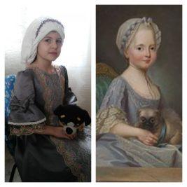 portrait d'Elisabeth de France par Anouk