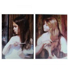 jeune fille coiffant ses cheveux, Auguste Renoir, par Alice