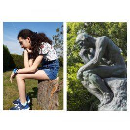 Le penseur, Auguste Rodin par Angéline
