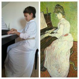 Mademoiselle Gachet au piano, Vincent Van Gogh, par Lou