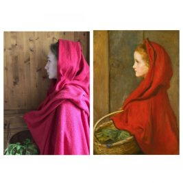 The red riding hood, John Everett Millais, par Eve