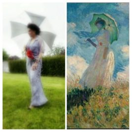 Femme à l'ombrelle tournée vers la gauche, Claude Monet