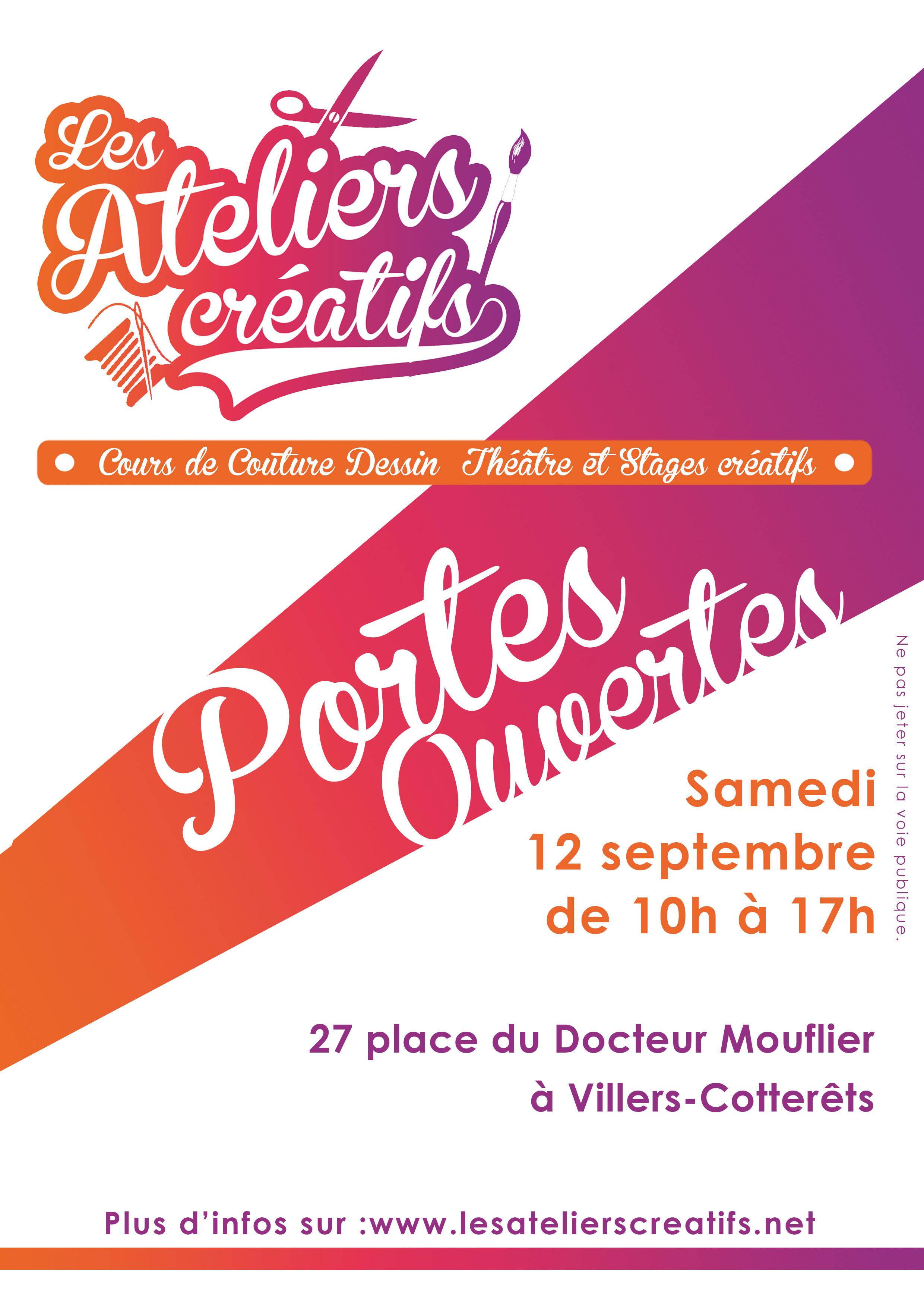 Portes ouvertes et journée d'inscriptions les ateliers créatifs à villers-cotterets